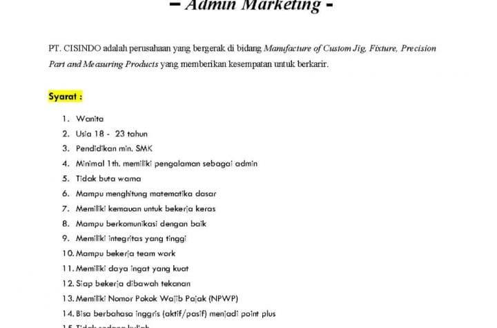 admin marketing