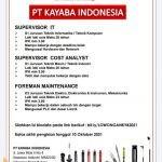 Lowongan Kerja PT Kayaba Indonesia Terbaru